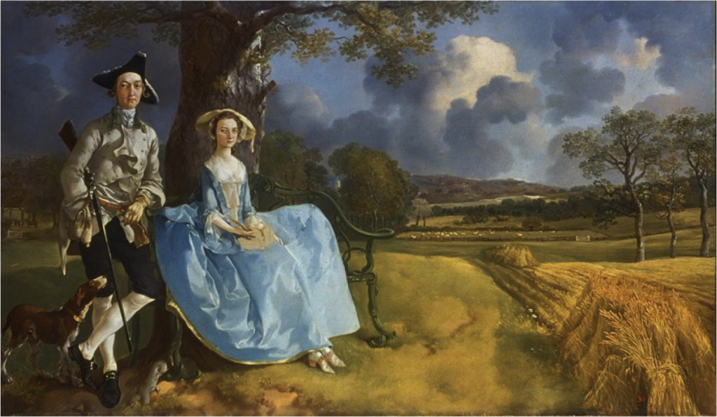 T. Gainsborough - Portret Roberta i Mary Andrews