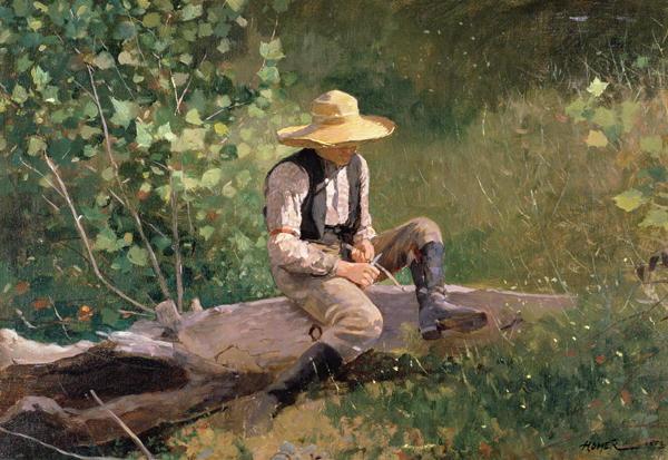 "Winslow Homer, ""Chłopiec w lesie"""