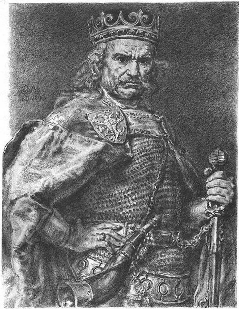 Jan Matejko - Król Władysław Łokietek (z cyklu: Poczet Krółow Polskich)