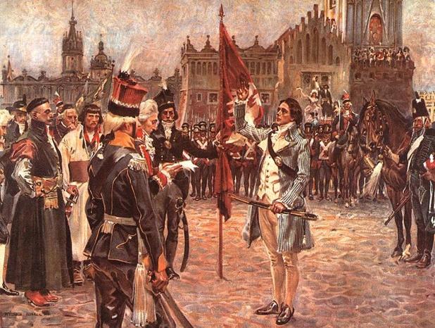 Wojcech Kossak - Przysięga Tadeusza Kościuszki na krakowskim Rynku