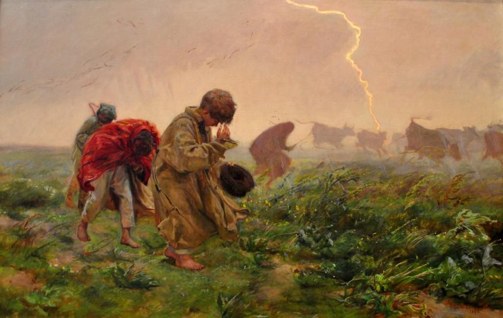 Józef Chełmoński - Przed burzą