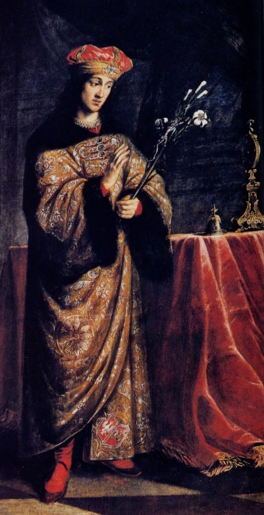 Daniel Schultz - Św. Kazimierz Królewicz (obraz z kościoła św. Kazimierza w Krakowie)