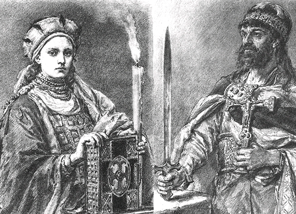 Jan Matejko - Mieszko I i jego żona Dobrawa