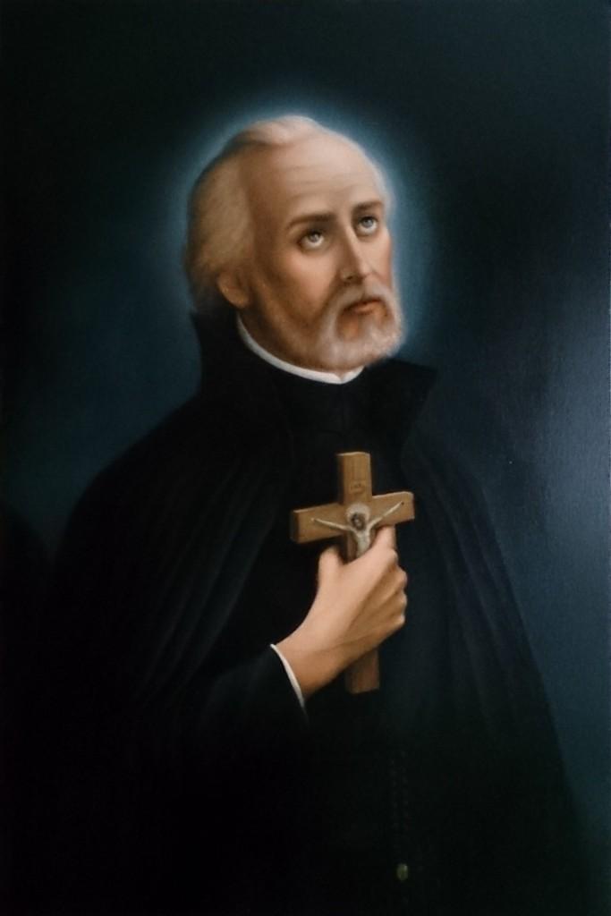 Kamila Chojnacka - Św. Andrzej Bobola, Patron Polski (obraz wspólczesny z kaplicy FSSPX w Zaczerniu)