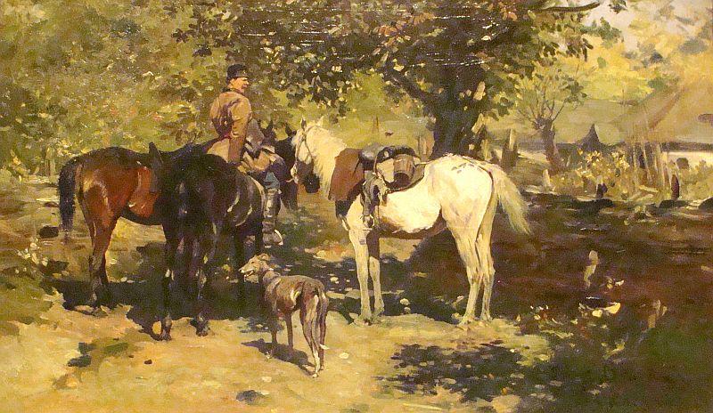 Józef Brandt - Wyjazd na polowanie