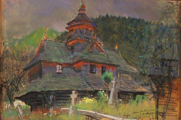 Leon Wyczółkowski - Cerkiewka w górach