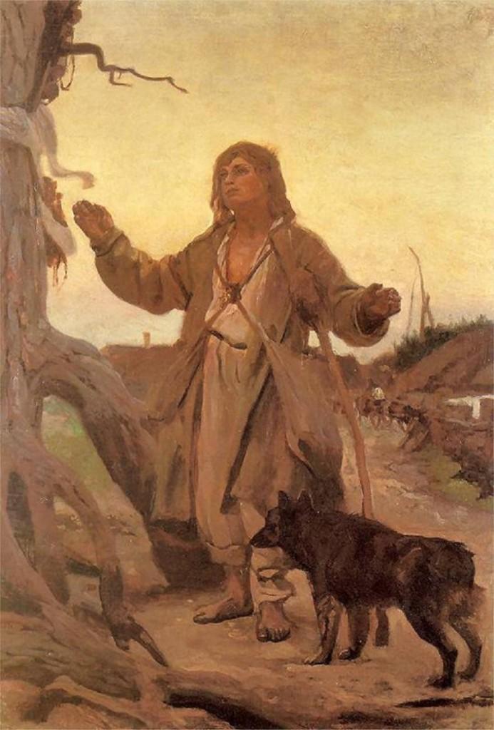 Józef Chełmoński - Modlitwa przy kapliczce