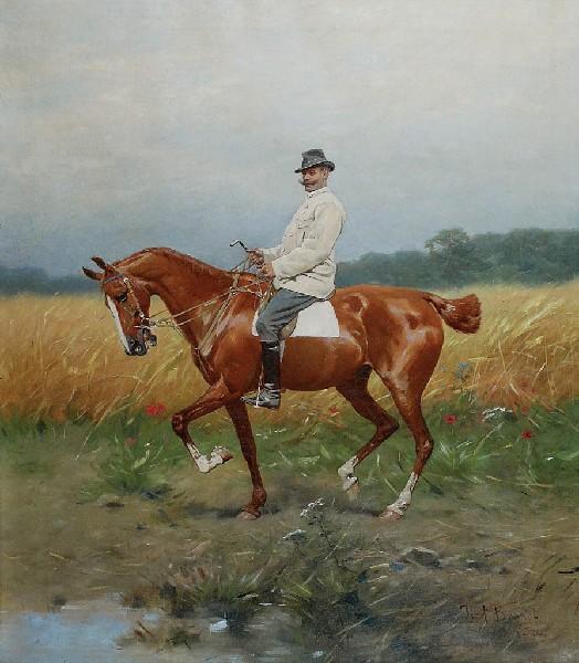 Józef Brandt -Portret konny Józefa Horodyńskiego