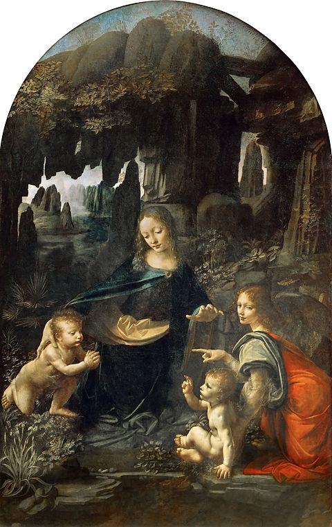Leonardo da Vinci - Madanna w grocie z Aniołami