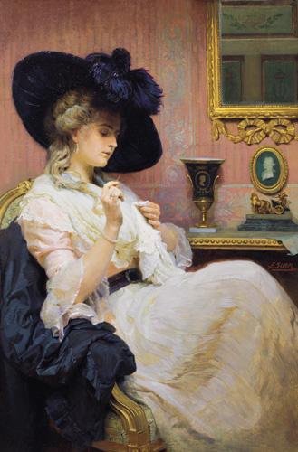 Franz-Xawier Simm - Portret kobiety