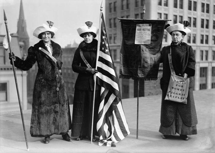 Demonstracja syfrażystek, pocz. XX w., Stany Zjednoczone