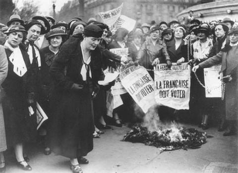Francuskie sufrażystki, lata 20. XX wieku