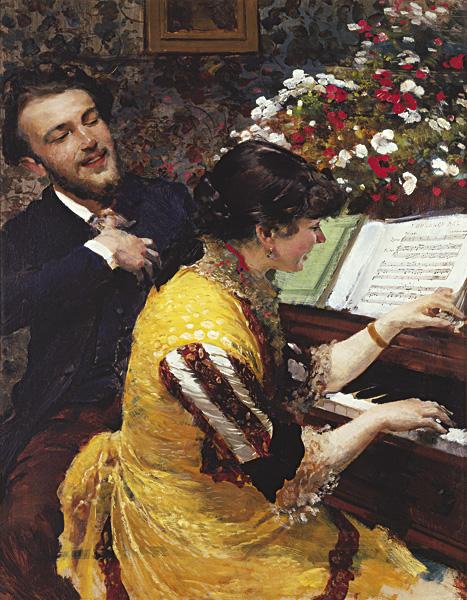 """Leon Wyczołkowski - """"Ujrzałem raz..."""" Scena przy fortepianie"""