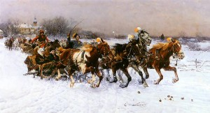Alfred Wierusz-Kowalski - Litewska sanna