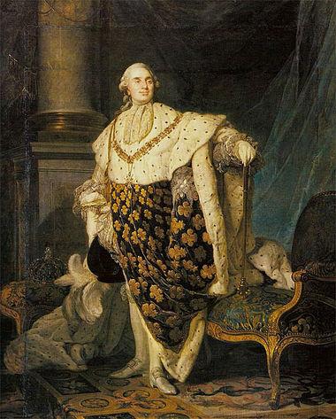 Joseph-Siffred Duplessis - Ludwik XVI w szatach koronacyjnych