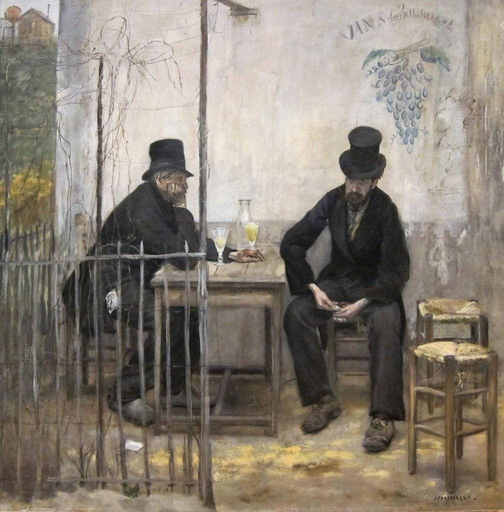 Jean-Francois Rafaelli - Pijący absynt