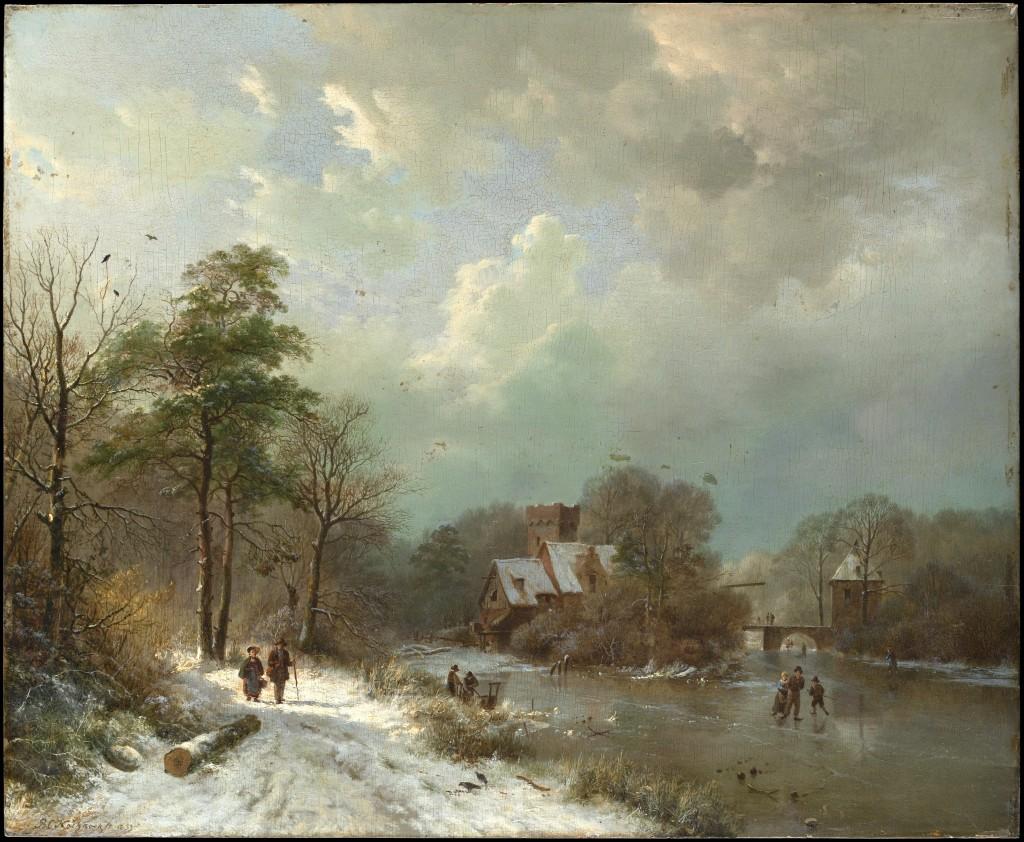 Barend Cornelis Koekkoek - Rzeka w zimie