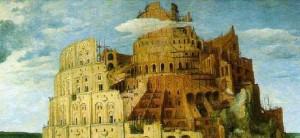 Peter Breugel (starszy) - Wieża Babel (fragment)