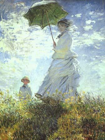 Claude Monet - Spacer. Kobieta z parasolką.