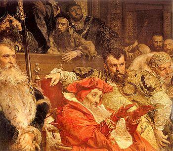 Kardynał Stanisław Hozjusz wśród dostojników Rzeczpospolitej (fragm. obrazu Jana Matejki