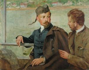 Kazimierz Pochwalski - Henryk Sienkiewicz i Tadeusz Pochwalski na statku