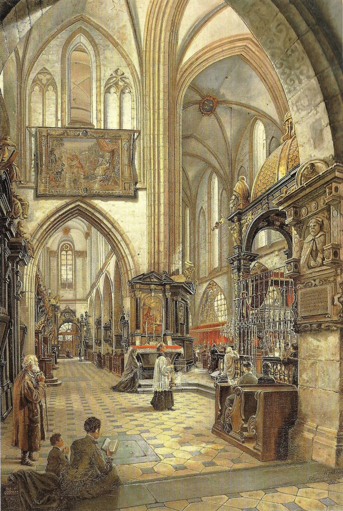 Saturnin Świerzyński - Wnętrze Katedry Wawelskiej Najświetszej Maryi Panny w Krakowie