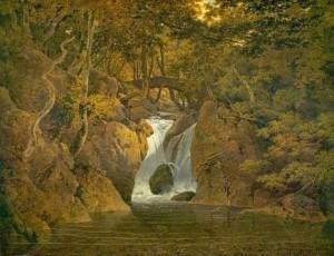 Joseph Wright of Derby - Leśny wodospad