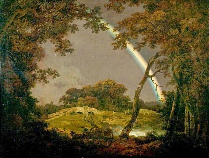 Joseph Wright of Derby - Krajobraz z tęczą