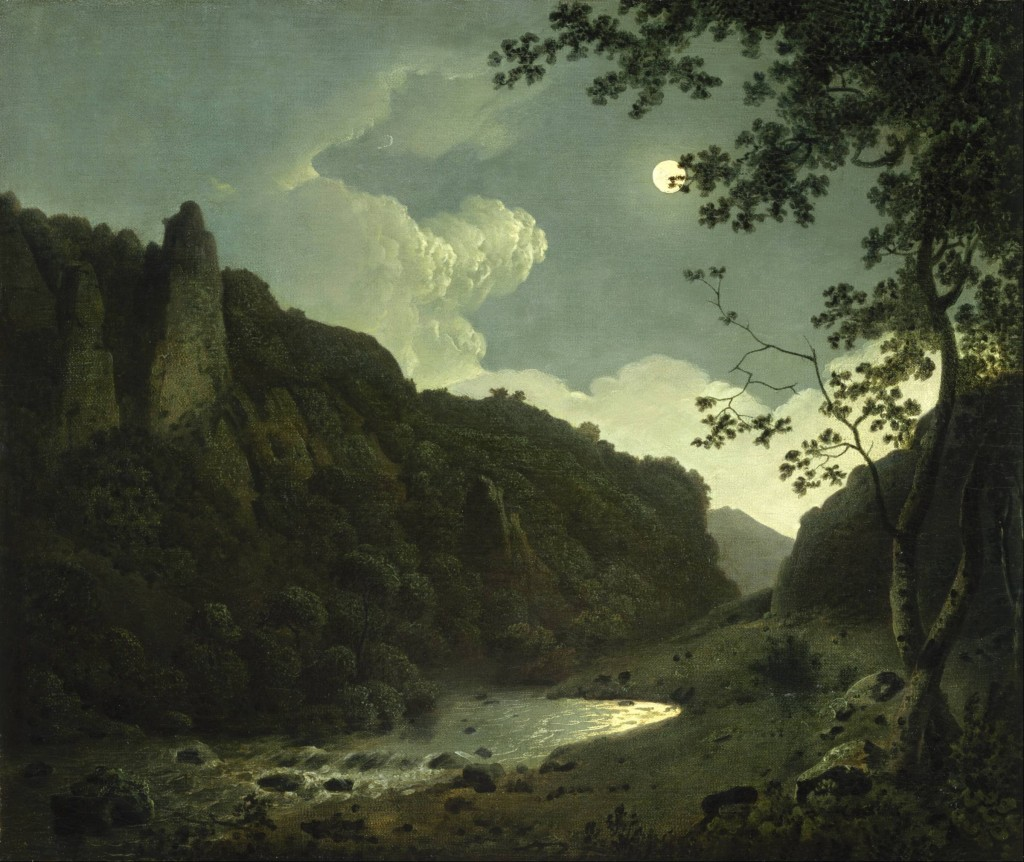 Joseph Wright of Derby - Dovedale w blasku księżyca