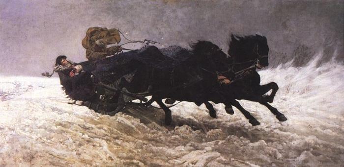 Józef Chełmoński - Powrót z balu