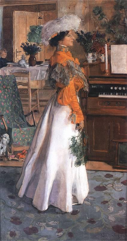 Jozef Mehoffer - Portret żony