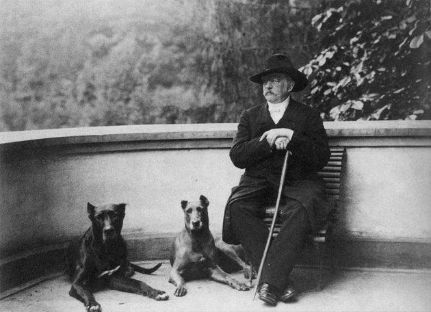 Otto von Bismarck pod koniec życia w swojej posiadłości Warcino