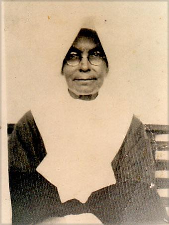 Siostra Barbara  Stanisława Samulowska w Gwatemali pod koniec życia (lata 50 XX w.)