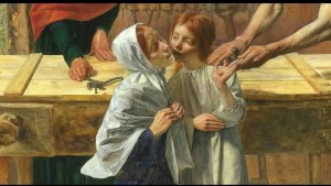 Everett Millais - Jezus w Domu rodzinnym (fragment)