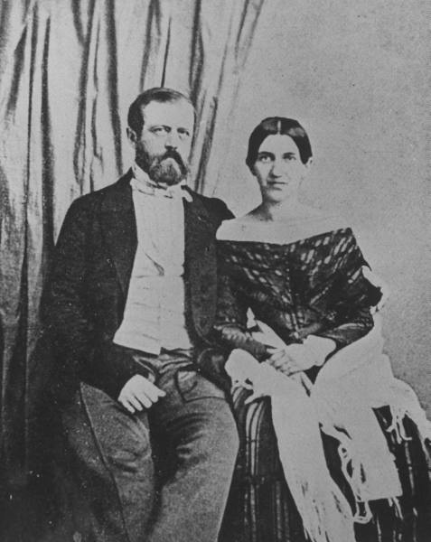Otto von Bismarck z żoną, Johanną z Puttkamerów