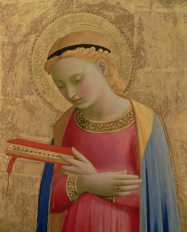 Fra Angelico - Najświętsza Dziewica Maryja (fragm. Zwiastowania)