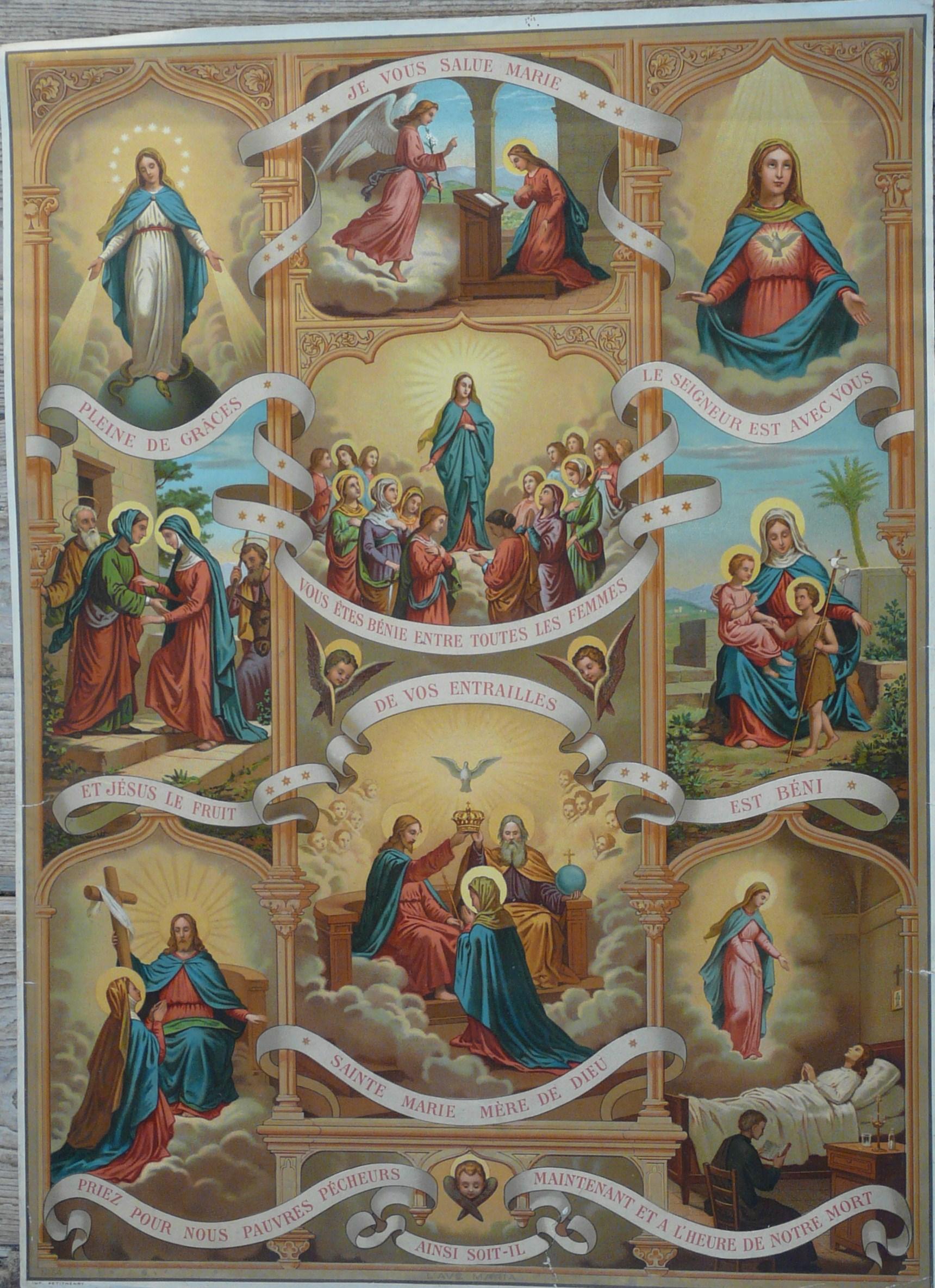 Ilustracja z francuskiego Katechizmu (1889 r.)