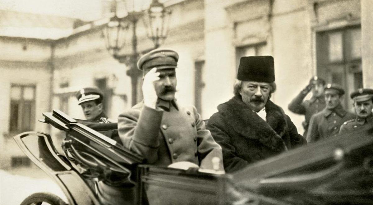 Marszałek Piłsudski i Ignacy Paderweski, Warszawa 1918 rok