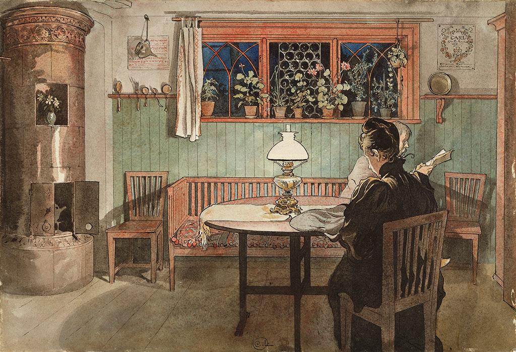 Carl Larsson - Gdy dzieci poszły spać