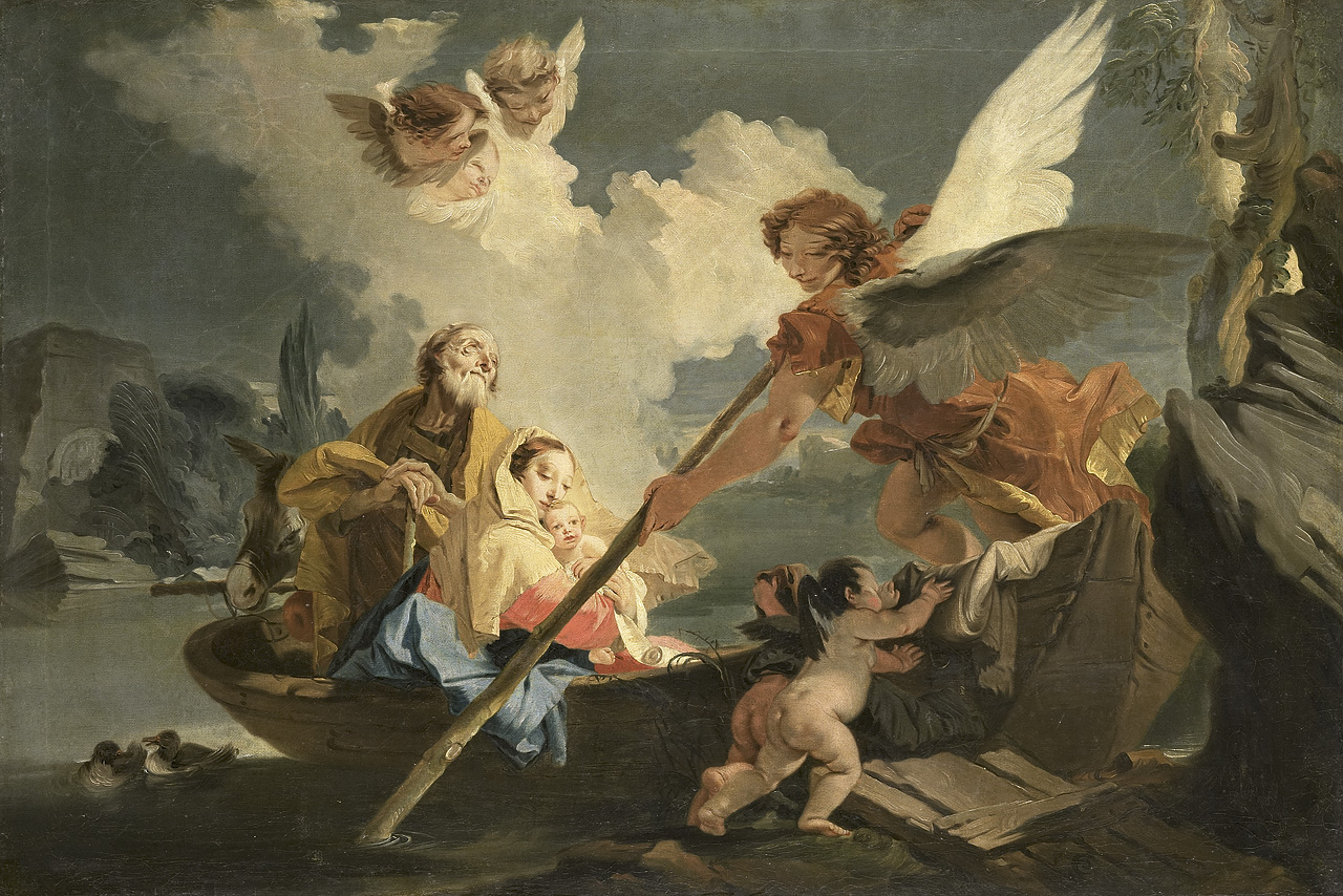 Giovanni Battista Tiepolo - Ucieczka Św. Rodziny do Egiptu