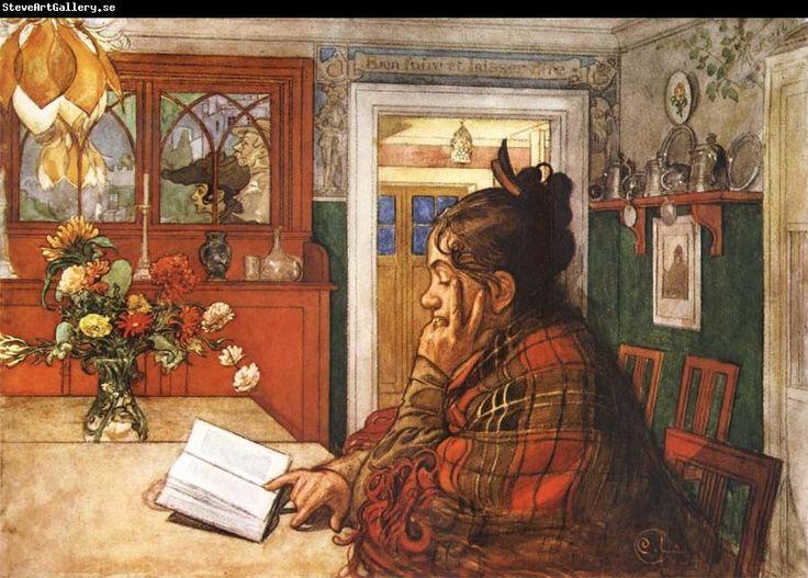 Carl Larsson - Czytająca