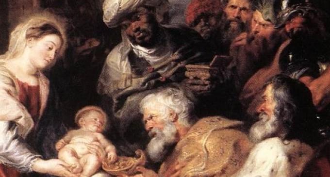Peter Paul Rubens - Pokłon Trzech  Króli (fragm.)