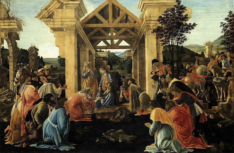 Sandro Botticelli - Adoracja Dzieciątka