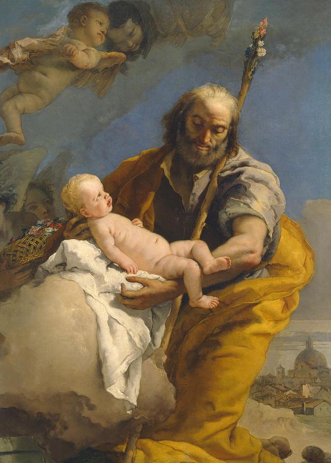 Giovanni Battista Tiepolo - Święty Józef z Bożym Dzieciątkiem