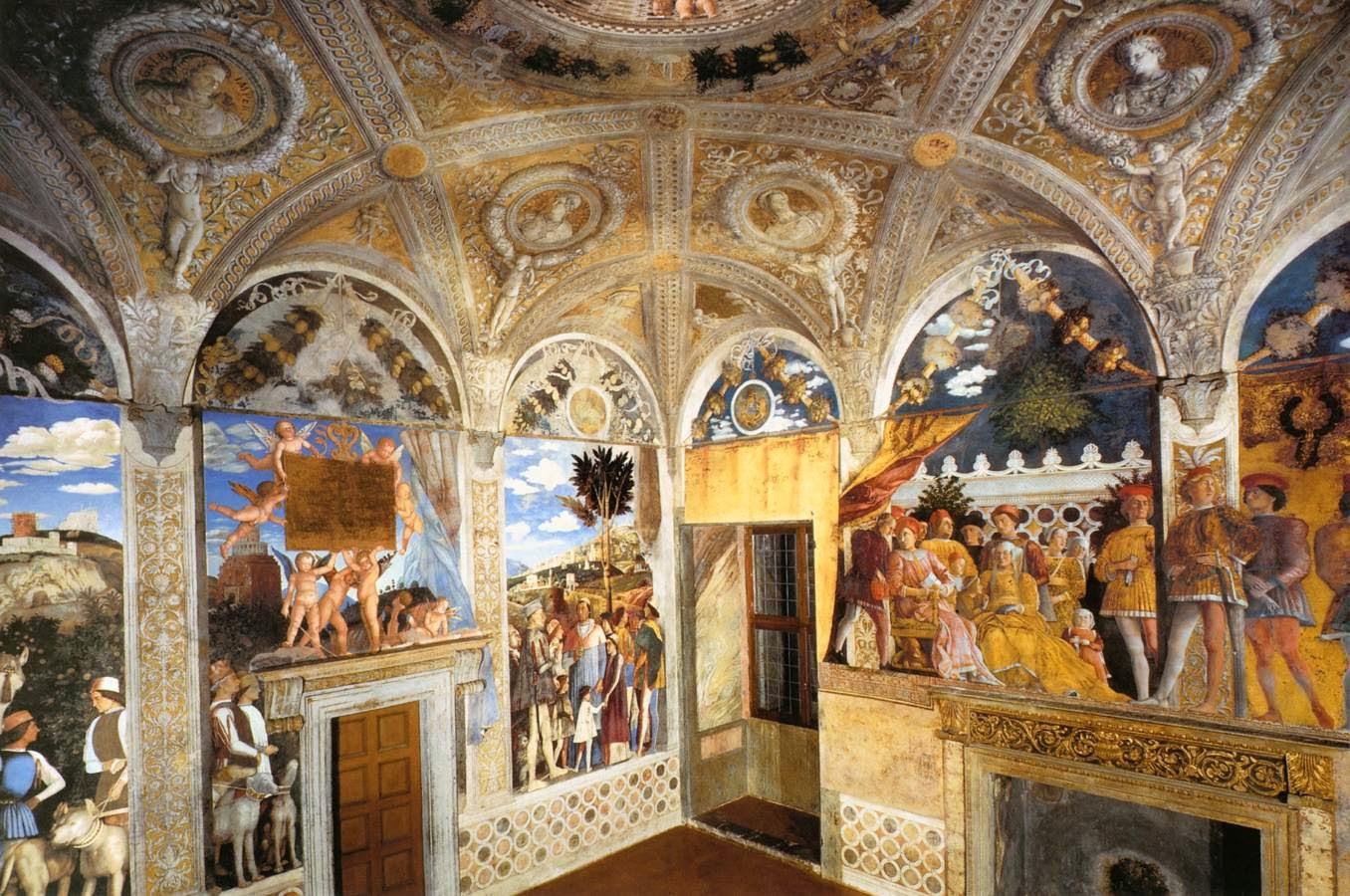 Freski Andrea Mantegna w pałacu książąt Mantui