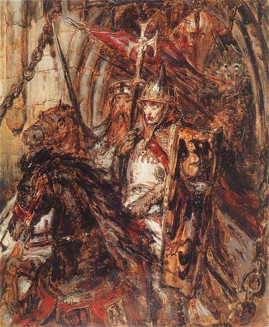 Jan Matejko - Wyjazd Henryka II Pobożnego pod Legnicę