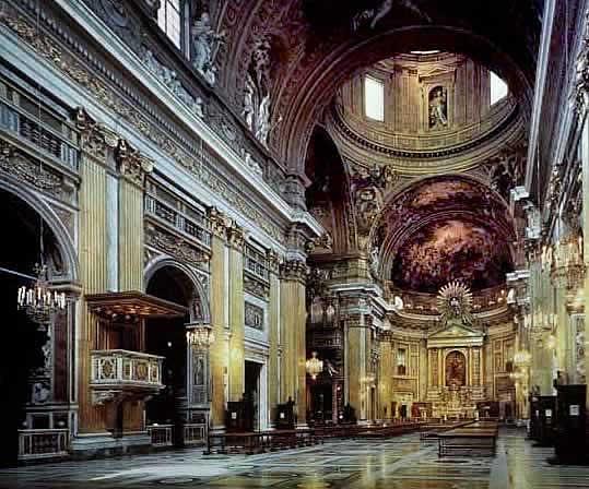 Wnętrze kościoła Il Gesu w Rzymie