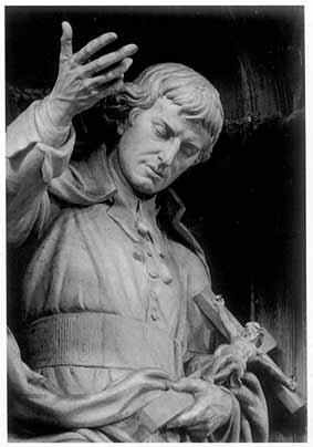 Statua św. Ludwika Marii Grignon de Montfort