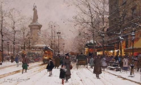 Eugene Galien-Laloue - Plac Republiki w Paryżu
