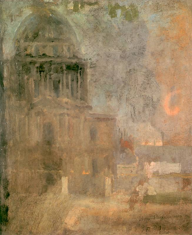 Olga Boznańska - Kościół Inwalidów w Paryżu